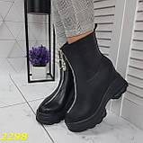 Ботинки женские осенние черные К2298, фото 5