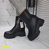 Ботинки женские осенние черные К2298, фото 4