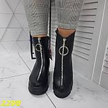 Ботинки женские осенние черные К2298, фото 7