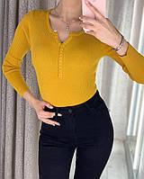 Женская кофточка на пуговичках в мелкий рубчик, фото 1