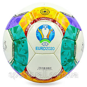 Мяч футбольный №5 PU ламин. EURO 2020 FB-8134 (№5, 5 сл., сшит вручную)