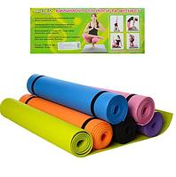Коврик спортивный для фитнеса и йоги - йогамат нескользящий M 0380-2 EVA, 173-61 см, толщина 5 мм Т