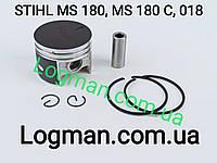 Поршень с кольцами для бензопилы STIHL MS180/C, 018, Winzor на мотопилу Штиль