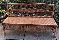 Скамейка плетеная из лозы, фото 1