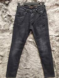 Мужские укороченные  зауженные джинсы