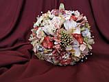 Свадебный букет-дублер в персиково-розовых тонах, фото 2