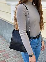 Женская кожаная сумка в лазерной обработке чёрная Farfalla Rosso, фото 2