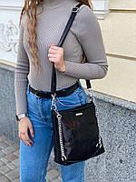 Женская кожаная сумка в лазерной обработке чёрная Farfalla Rosso, фото 3