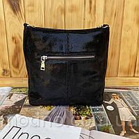 Женская кожаная сумка в лазерной обработке чёрная Farfalla Rosso, фото 9