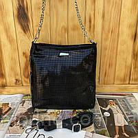 Женская кожаная сумка в лазерной обработке чёрная Farfalla Rosso, фото 6