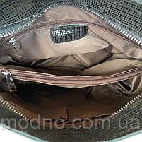 Женская кожаная сумка в лазерной обработке чёрная Farfalla Rosso, фото 10