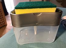 Диспенсер дозатор для миючого засобу з губкою для кухні Sponge Caddy, фото 2