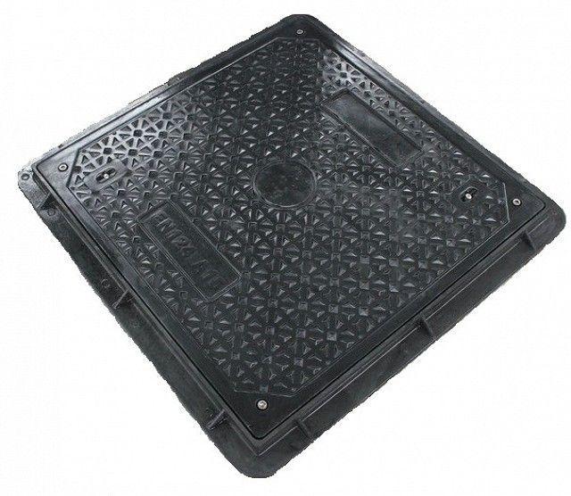 Б/У Люк квадратный, садовый, черный. Крышка композитная квадратная Embeco 700x700