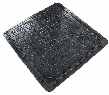 Б/У Люк квадратный, садовый, черный. Крышка композитная квадратная Embeco 700x700, фото 2