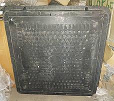 Б/У Люк квадратный, садовый, черный. Крышка композитная квадратная Embeco 700x700, фото 3
