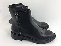 Стильные женские  кожаные ботинки им. Lonza
