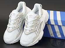 Женские кроссовки Adidas Ozweego Cloud White Grey Soft Vision EE7012, фото 2