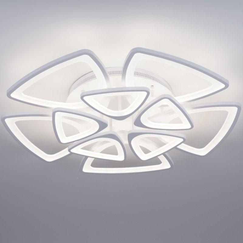 Потолочная LED-люстра с диммером цвет белый 300W Форма плюс&LD3575-10