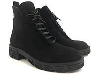 Стильные женские велюровые ботинки . Lonza