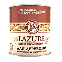 Алкидная лазурь для дерева Дуб 2,5 л Днипро-Контакт