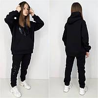 Теплый спортивный костюм  COOL  Черный  90%хлопок, фото 1