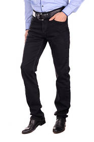 Мужские классические прямые черные джинсы