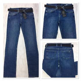 Женские прямые джинсы синего цвета