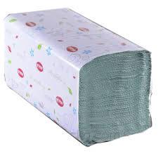 Полотенце бумажное зеленое 1 слой (V) ZZ, 250 листов/уп 25х23 см. КОХАВИНКА/MILDI