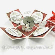 Magic Box 5х5 см Чёрно-красный с монетами