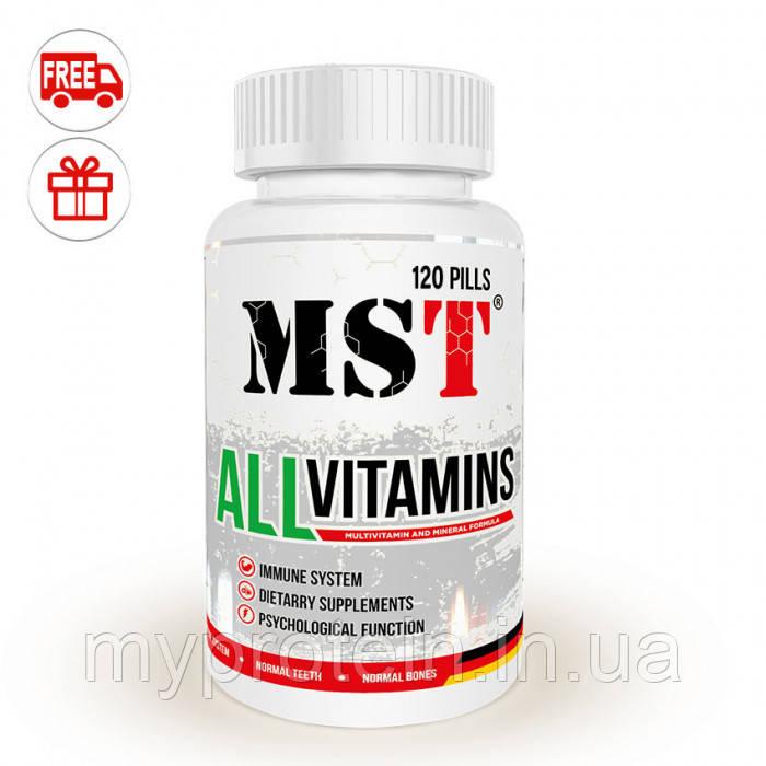 MSTВитамины и минералыAll Vitamins60 pills