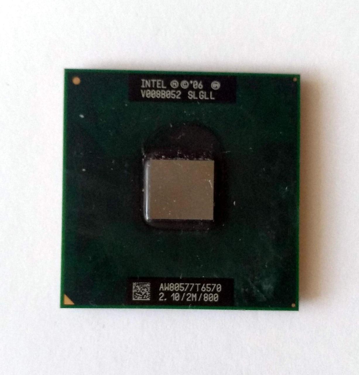 447 Intel Core 2 Duo Mobile T6570 2100 MHz SLGLL Socket P 2 ядра 64 бита процессор для ноутбуков