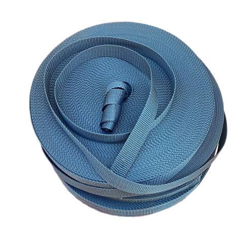 Лента, тесьма для сумок, рюкзаков 25 мм 50 м стропа ременная полипропиленовая (серая), фото 2