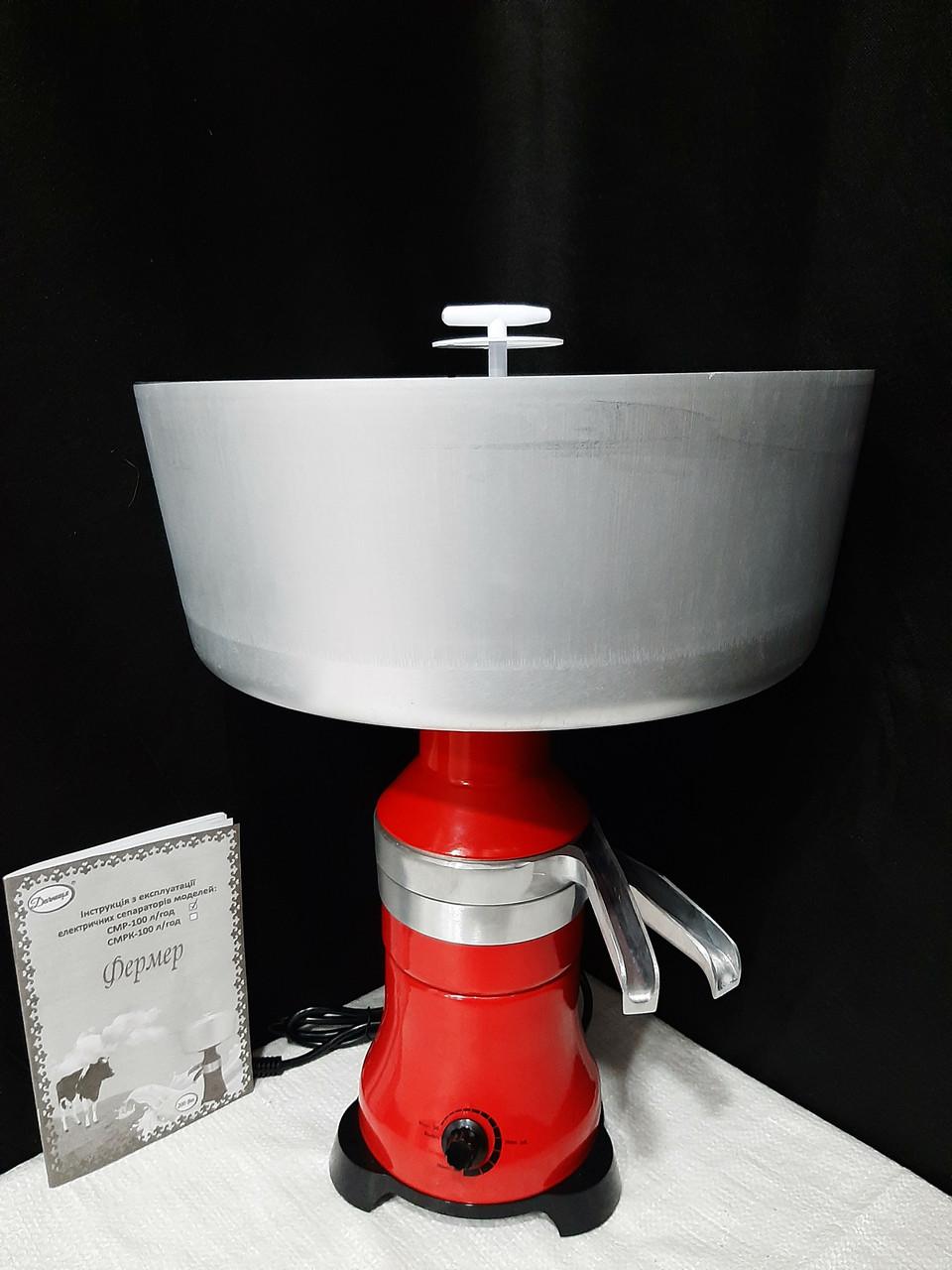 """Сепаратор для молока і вершків """"Фермер 100л/год"""". Металевий корпус. (Слівкоотделітель)."""