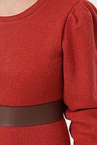 Модное женское платье из ангоры с поясом,  цвет бежевый,  размер от S до XL, фото 2