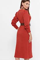 Модное женское платье из ангоры с поясом,  цвет бежевый,  размер от S до XL, фото 3