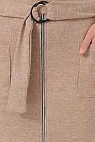 Мягкое платье миди из ангоры ниже колена бежевое 44,46,48,50, фото 3