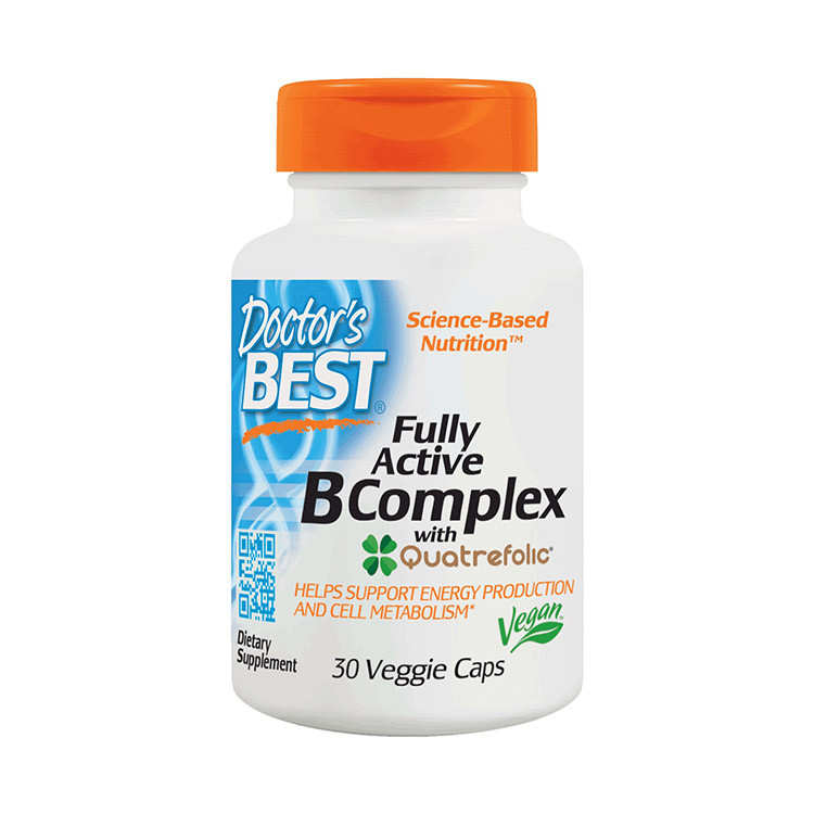 Комплекс витаминов группы Б Doctor's BEST Fully Active B Complex (30 veg caps)