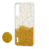 Чехол силиконовый Fashion popsoket для Xiaomi Mi 10/10 Pro Gold