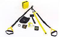 Петли TRX тренировочные подвесные многофункциональные PRO PACK P3 HOME Черный-желтый (СПО FI-3726-05)