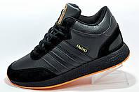 Зимние кроссовки на меху в стиле Adidas Originals Iniki Runner