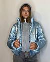 Женская молодежная демисезонная куртка Даша Размеры 38- 48 Цвет голубой, фото 2