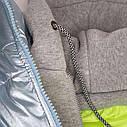 Женская молодежная демисезонная куртка Даша Размеры 38- 48 Цвет голубой, фото 4