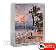 Шкаф купе 3Д трехдверный Море 11, выбор цвета корпуса и рисунка