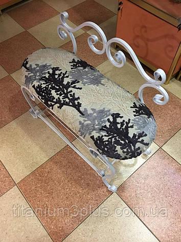 Пуфік-банкетка ковані Титаниум3+ зі спинкою Комфорт-Амарант, фото 2