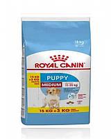 Сухой корм Royal Canin Medium Puppy для щенков средних пород до 12 месяцев, 15 кг.