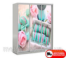 Шкаф купе 3Д трехдверный Вкусняшки 14, выбор цвета корпуса и рисунка