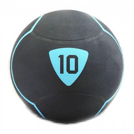 Медбол 10 кг Livepro SOLID MEDICINE BALL черный, фото 2