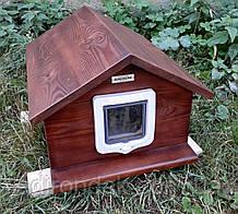 Домик для кота 40х50 с дверками утепленный