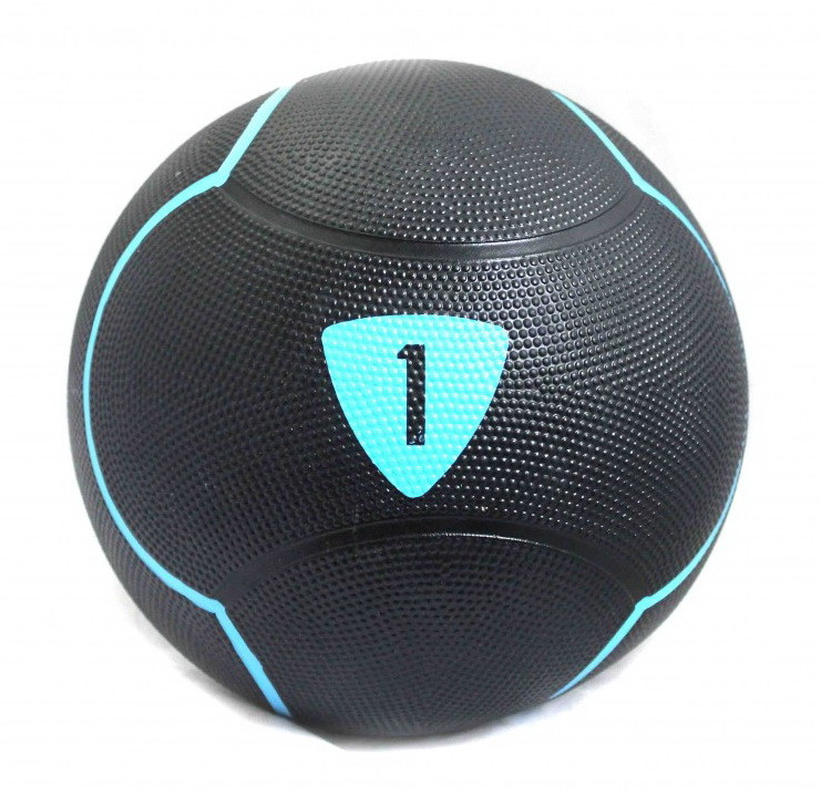 Медбол 1 кг Livepro SOLID MEDICINE BALL черный