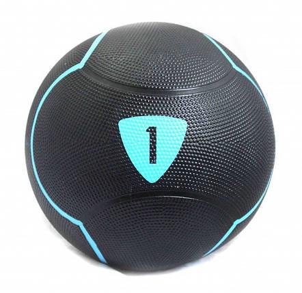 Медбол 1 кг Livepro SOLID MEDICINE BALL черный, фото 2